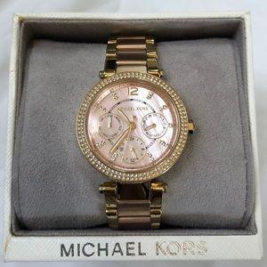 Michael Kors MK6477 Crystal 33mm Rose Gold Watch